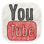 Youtube logo hand drawn