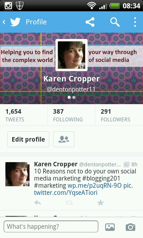 How to design a header image for twitter for all devices karen screenprint of mobile version of new twitter profile pronofoot35fo Image collections