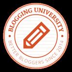 Blogging University logo #blogging201