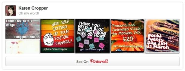 Pinterest board widget
