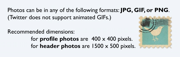 Dimensions for new Twitter header and profile pictures